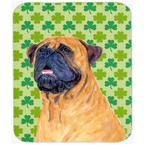 Carolines Treasures SS4451MP Mastiff St. Patricks Day Shamrock Portrait Mouse Pad Hot Pad Or Trivet