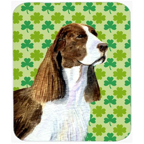 Carolines Treasures SS4444MP Springer Spaniel St. Patricks Day Shamrock Mouse Pad Hot Pad Or Trivet