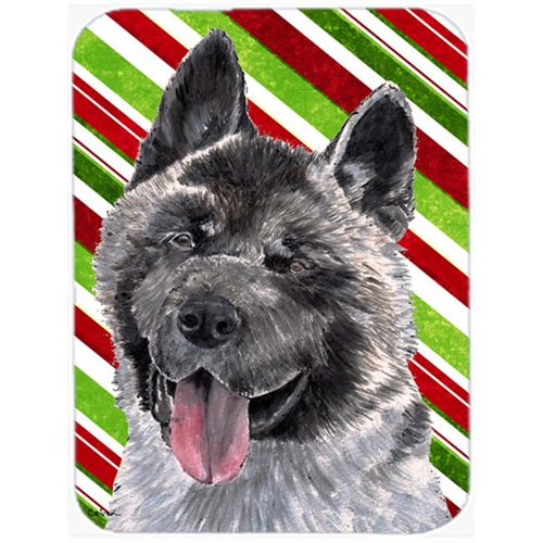 Carolines Treasures SC9480MP 7.75 x 9.25 In. Akita Candy Cane Holiday Christmas Mouse Pad Hot Pad Or Trivet
