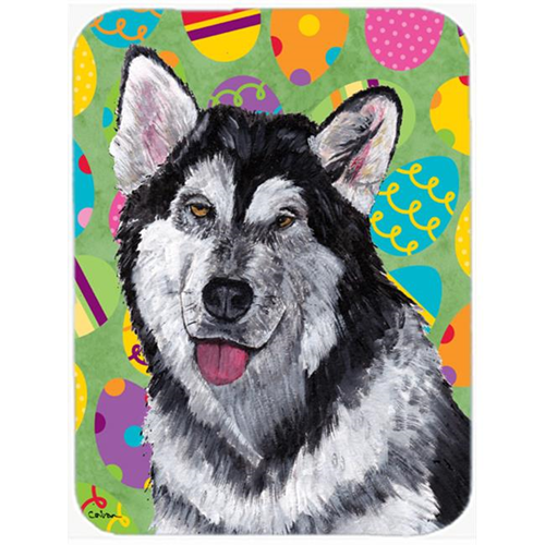 Carolines Treasures SC9489MP 7.75 x 9.25 In. Alaskan Malamute Easter Eggtravaganza Mouse Pad Hot Pad Or Trivet
