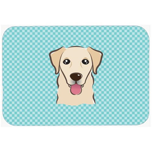 Carolines Treasures BB1190MP Checkerboard Blue Golden Retriever Mouse Pad Hot Pad Or Trivet 7.75 x 9.25 In.