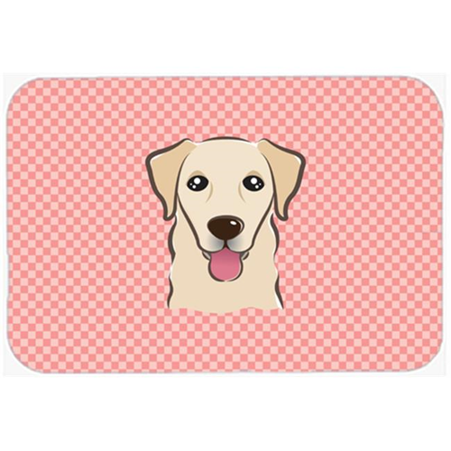 Carolines Treasures BB1252MP Checkerboard Pink Golden Retriever Mouse Pad Hot Pad Or Trivet 7.75 x 9.25 In.