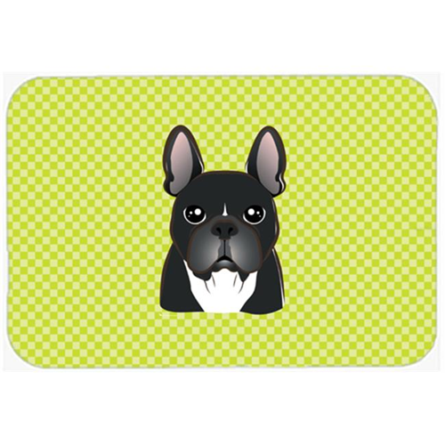 Carolines Treasures BB1289MP Checkerboard Lime Green French Bulldog Mouse Pad Hot Pad Or Trivet 7.75 x 9.25 In.
