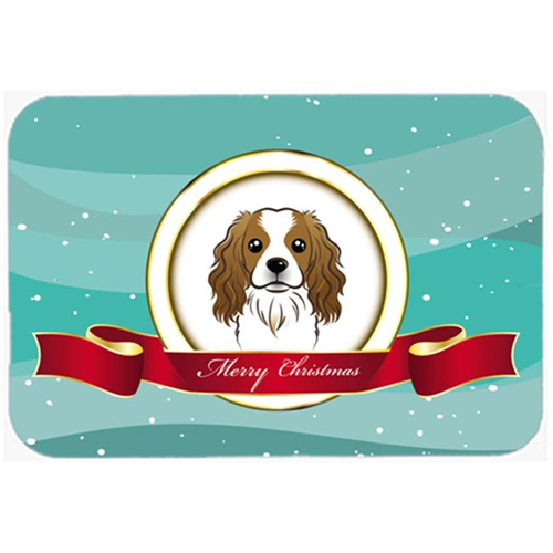 Carolines Treasures BB1534MP Cavalier Spaniel Merry Christmas Mouse Pad Hot Pad & Trivet