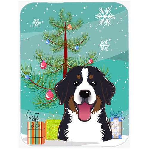 Carolines Treasures BB1609MP Christmas Tree And Bernese Mountain Dog Mouse Pad Hot Pad & Trivet