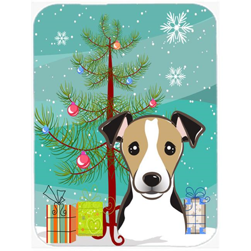 Carolines Treasures BB1633MP Christmas Tree And Jack Russell Terrier Mouse Pad Hot Pad & Trivet