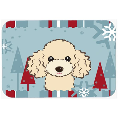 Carolines Treasures BB1754MP Winter Holiday Buff Poodle Mouse Pad Hot Pad & Trivet