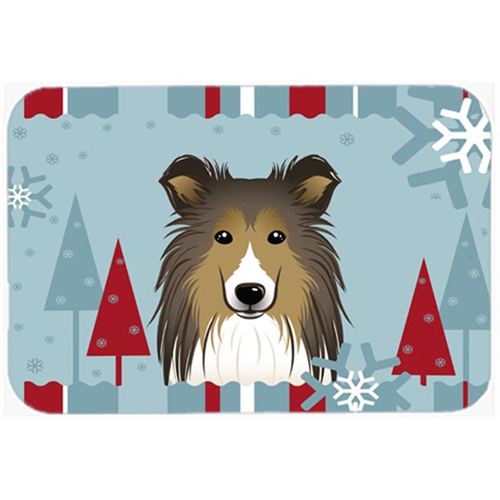 Carolines Treasures BB1738MP Winter Holiday Sheltie Mouse Pad Hot Pad & Trivet