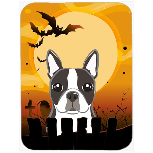 Carolines Treasures BB1761MP Halloween Boston Terrier Mouse Pad Hot Pad & Trivet