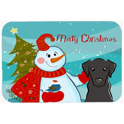 Carolines Treasures BB1855MP Snowman With Black Labrador Mouse Pad Hot Pad & Trivet