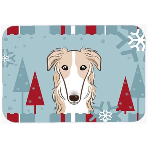 Carolines Treasures BB1724MP Winter Holiday Borzoi Mouse Pad Hot Pad & Trivet