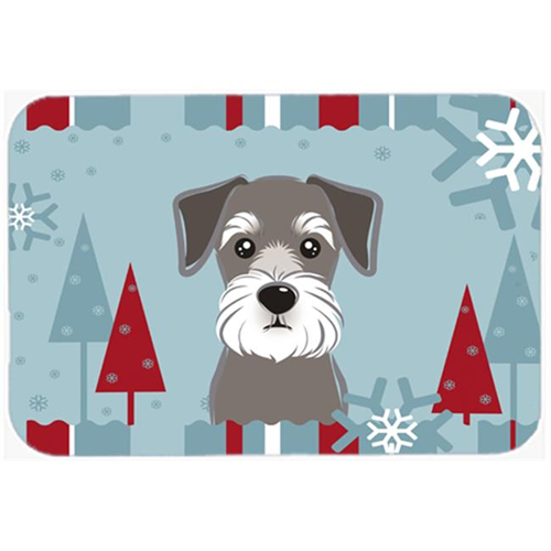 Carolines Treasures BB1702MP Winter Holiday Schnauzer Mouse Pad Hot Pad & Trivet