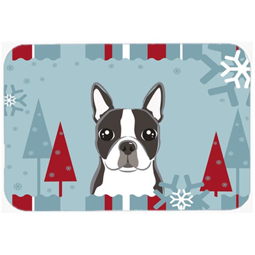 Carolines Treasures BB1699MP Winter Holiday Boston Terrier Mouse Pad Hot Pad & Trivet