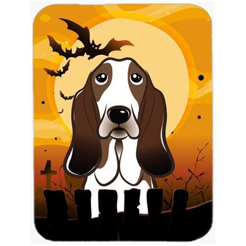 Carolines Treasures BB1801MP Halloween Basset Hound Mouse Pad Hot Pad & Trivet
