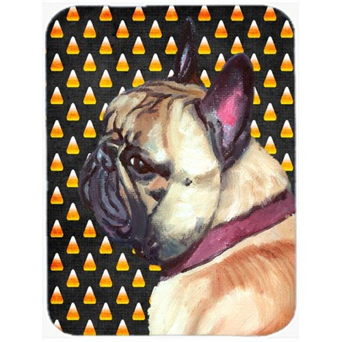 Carolines Treasures LH9552MP French Bulldog Frenchie Candy Corn Halloween Mouse Pad Hot Pad & Trivet