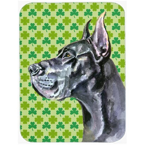 Carolines Treasures LH9571MP Black Great Dane St. Patricks Day Shamrock Mouse Pad Hot Pad & Trivet