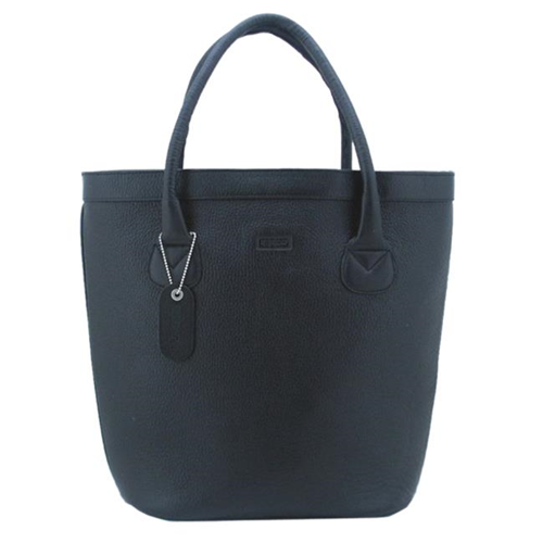 Leatherbay 20104 Oxford Leather Tote Black