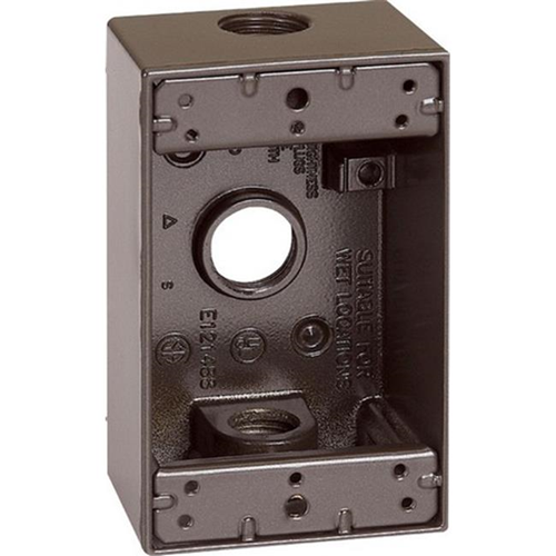 Sigma 14250BR 1 Gang Bronze Weatherproof Outlet Box