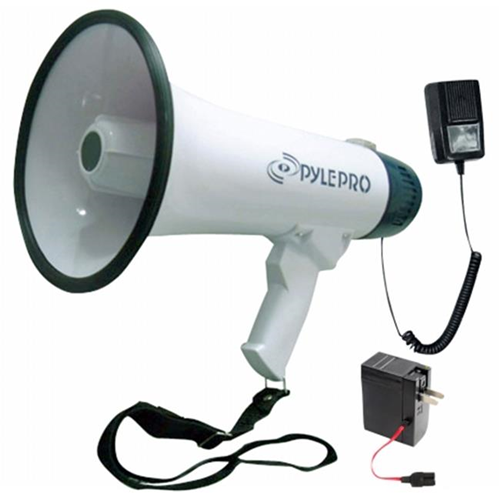 PYLE PMP45R Professional Dynamic Megaphone with Recording Function-Detachable Microphone and Rechagable batteries