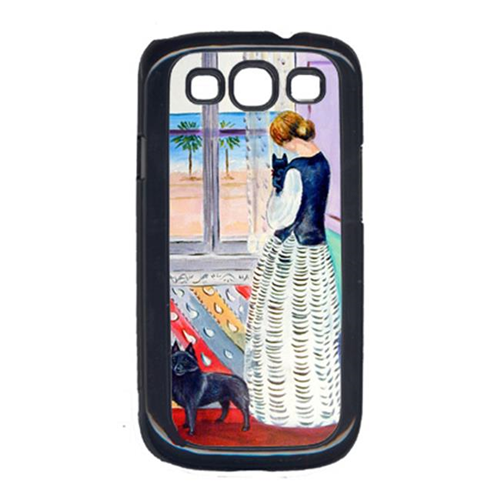 Carolines Treasures 7268GALAXYSIII Lady With Her Schipperke Cell Phone Cover Galaxy S111