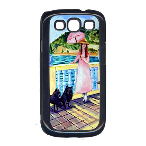 Carolines Treasures 7267GALAXYSIII Lady With Her Schipperke Cell Phone Cover Galaxy S111