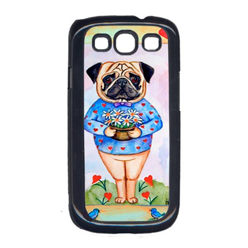 Carolines Treasures 7132GALAXYSIII Pug ValentineS Hearts Cell Phone Cover Galaxy S111