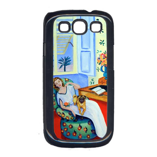 Carolines Treasures 7166GALAXYSIII Lady With Her Pug Cell Phone Cover Galaxy S111