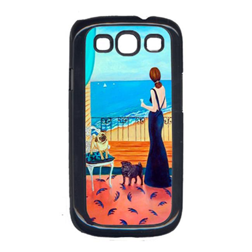 Carolines Treasures 7133GALAXYSIII Lady With Her Pug Cell Phone Cover Galaxy S111
