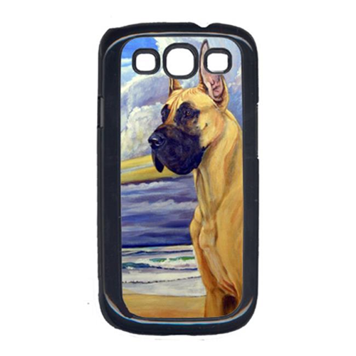Carolines Treasures 7101GALAXYSIII Fawn Great Dane At The Beach Galaxy S111 Cell Phone Cover
