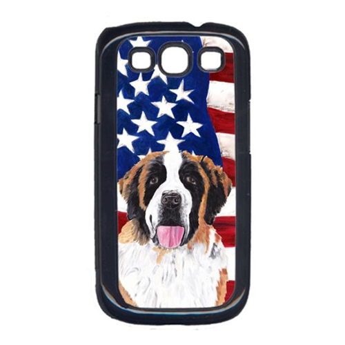 Carolines Treasures SC9027GALAXYS3 USA American Flag with Saint Bernard Cell Phone Cover GALAXY S111