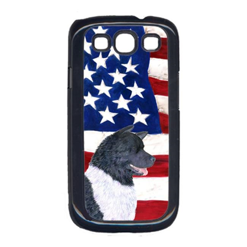 Carolines Treasures SS4005GALAXYS3 USA American Flag with Akita Cell Phone Cover GALAXY S111