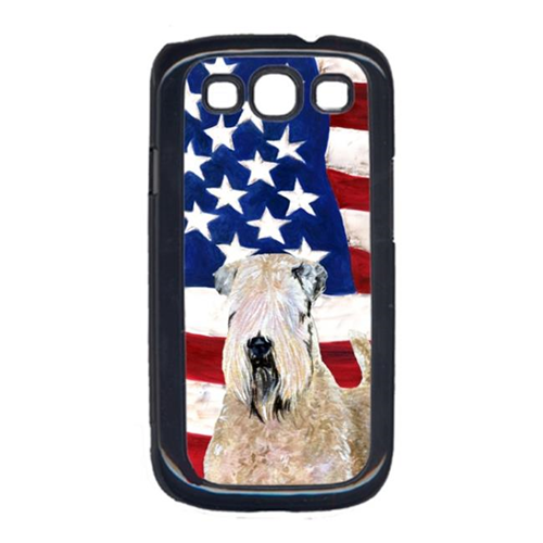 Carolines Treasures SS4019GALAXYS3 USA American Flag with Wheaten Terrier Soft Coated Cell Phone Cover GALAXY S111