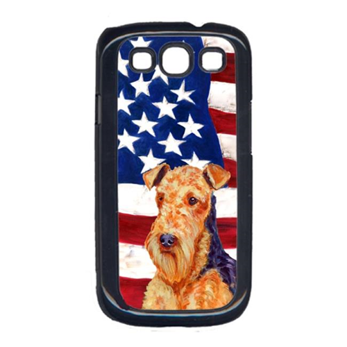 Carolines Treasures LH9005GALAXYS3 USA American Flag with Airedale Cell Phone Cover GALAXY S111
