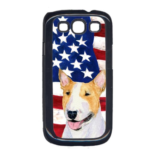 Carolines Treasures SS4023GALAXYS3 USA American Flag with Bull Terrier Cell Phone Cover GALAXY S111