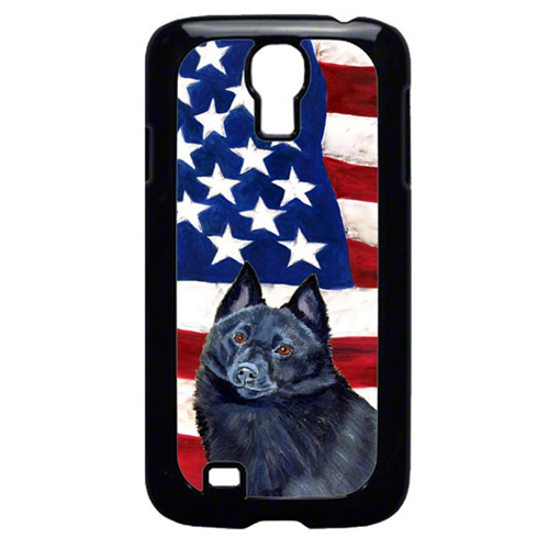 Carolines Treasures LH9009GALAXYS4 USA American Flag with Schipperke Cell Phone Cover GALAXY S4