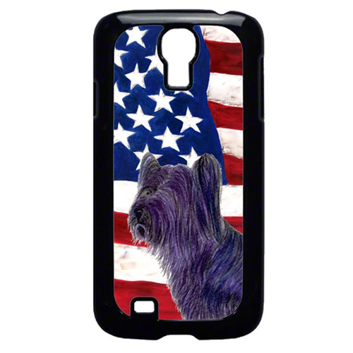 Carolines Treasures SS4219GALAXYS4 USA American Flag With Skye Terrier Galaxy S4 Cell Phone Cover