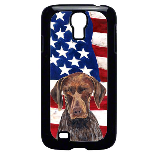 Carolines Treasures SC9034GALAXYS4 USA American Flag with German Shorthaired Pointer Cell Phone Cover GALAXY S4