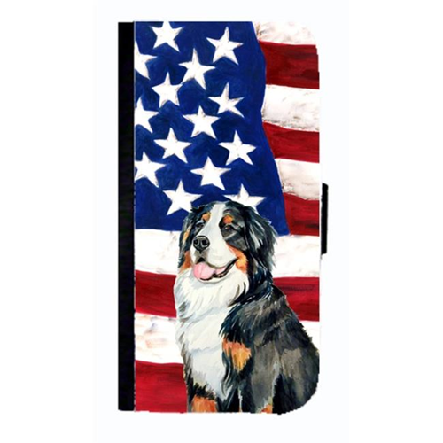 Carolines Treasures LH9003NBGALAXYS3 USA American Flag Bernese Mountain Dog Cell Phonebook Cell Phone Cover For Galaxy S3