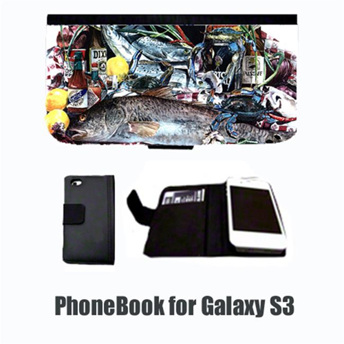 Carolines Treasures 1001-NBGALAXYS3 Fish and Beers from New Orleans Cell Phonebook Cell Phone case Cover for GALAXY S3