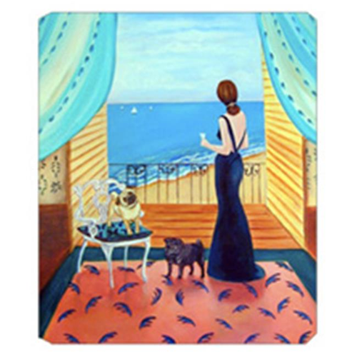 Carolines Treasures 7133MP 8 x 9.5 in. Lady with her Pug Mouse Pad Hot Pad Or Trivet