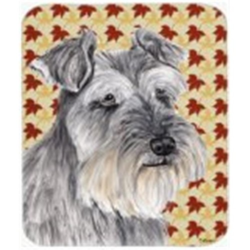 Carolines Treasures SC9234MP 9.5 x 8 in. Schnauzer Fall Leaves Portrait Mouse Pad Hot Pad or Trivet