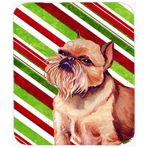 Carolines Treasures LH9224MP Brussels Griffon Candy Cane Holiday Christmas Mouse Pad Hot Pad Or Trivet