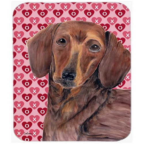 Carolines Treasures SC9271MP Dachshund Hearts Love And Valentines Day Portrait Mouse Pad Hot Pad Or Trivet