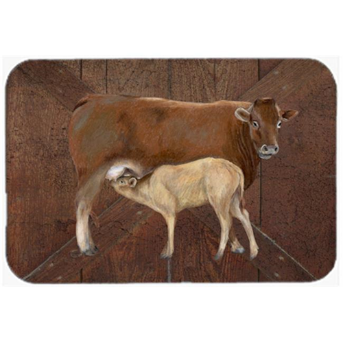 Carolines Treasures SB3074MP 7.75 x 9.25 In. Cow Momma And Baby Mouse Pad Hot Pad Or Trivet