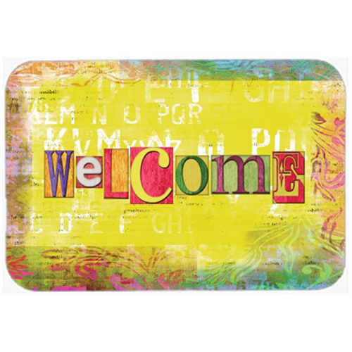 Carolines Treasures SB3097MP 7.75 x 9.25 In. Artsy Welcome Mouse Pad Hot Pad Or Trivet