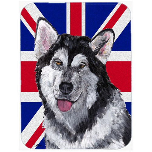 Carolines Treasures SC9815MP 7.75 x 9.25 In. Alaskan Malamute With English Union Jack British Flag Mouse Pad Hot Pad Or Trivet