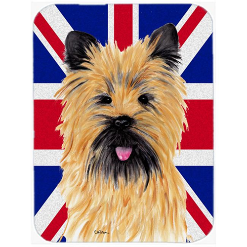 Carolines Treasures SC9832MP 7.75 x 9.25 In. Cairn Terrier With English Union Jack British Flag Mouse Pad Hot Pad Or Trivet