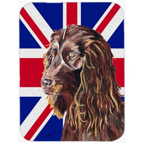 Carolines Treasures SC9862MP 7.75 x 9.25 In. Boykin Spaniel With Engish Union Jack British Flag Mouse Pad Hot Pad Or Trivet