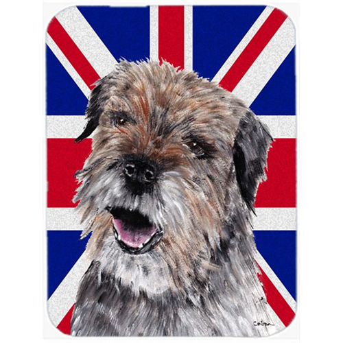 Carolines Treasures SC9865MP 7.75 x 9.25 In. Border Terrier With Engish Union Jack British Flag Mouse Pad Hot Pad Or Trivet