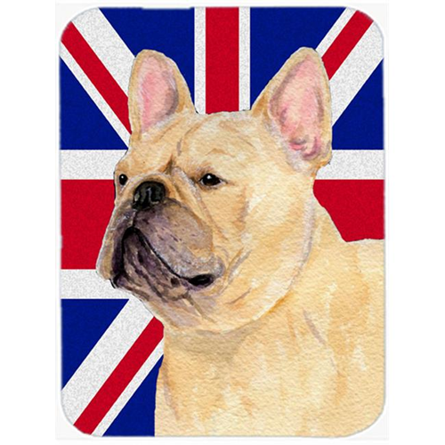Carolines Treasures SS4927MP 7.75 x 9.25 In. French Bulldog With English Union Jack British Flag Mouse Pad Hot Pad Or Trivet